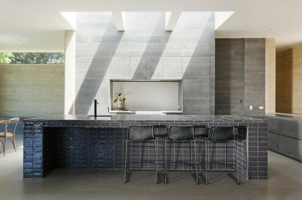 dachfenster skylight über der kücheninsel