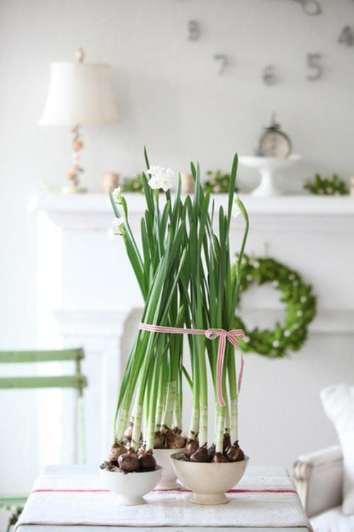 dekoideen für weihnachten frühlingsblumen