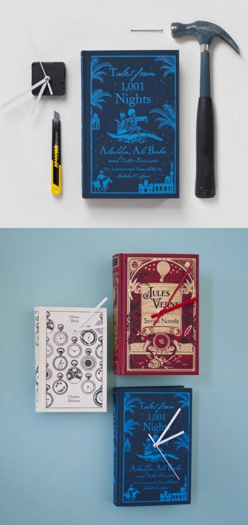 kreative uhr aus werkzeug und materialien