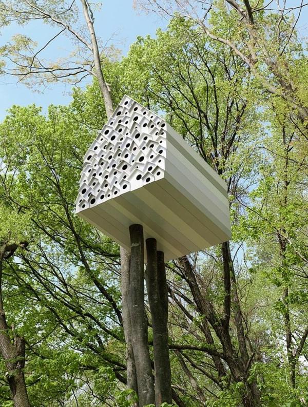 12 Erstaunliche Baumhaus Ideen Aus Aller Welt Glas Fassade Spiegelfassade Baumhaus