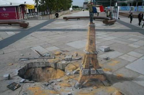 erstaunliche kunst straße zeichnungen 3d Effekt idee