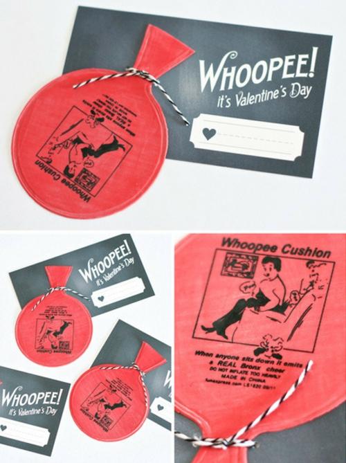 geschenke zum valentinstag basteln scherzkissen