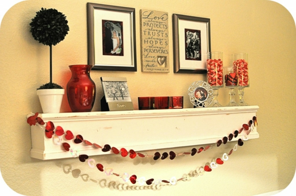 geschenkideen zum valentinstag kaminsims dekoration günstig auffallend