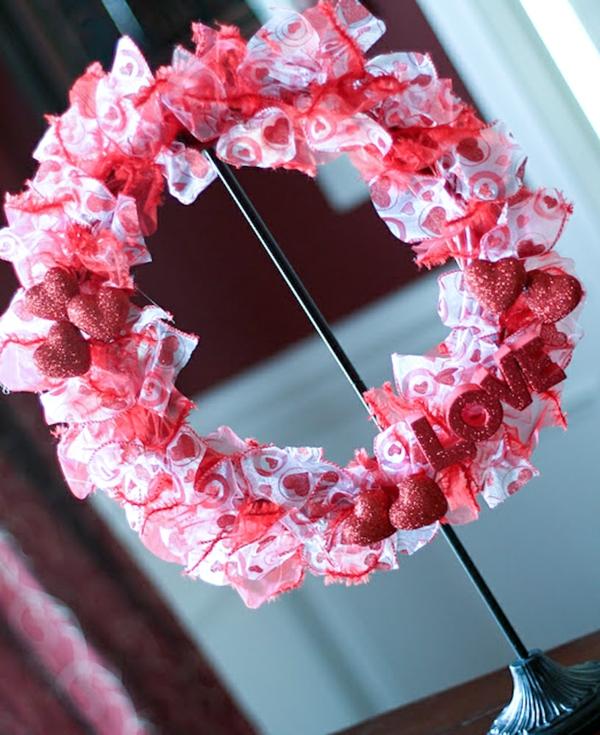 geschenkideen zum valentinstag kranz liebe originell band