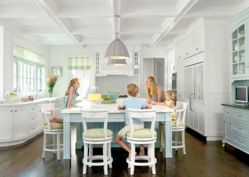 gutes Küchendesign einrichten familie weiß möbel esstisch