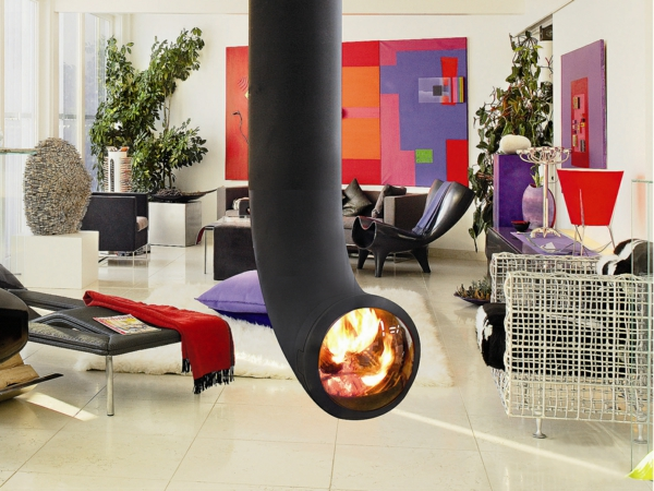 20 einrichtungsideen f r h ngenden kaminofen im modernen haus. Black Bedroom Furniture Sets. Home Design Ideas