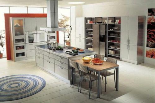 kücheninsel in grauen tönen