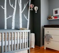 Babyzimmer gestalten kreative ideen  Babyzimmer komplett gestalten - 25 kreative und bunte Ideen