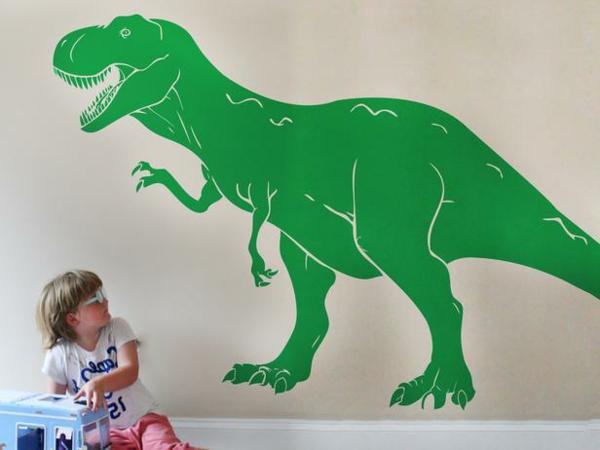 kinderzimmer wandtattoo dinosaurier