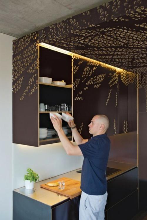 Klappbare Möbel Für Die Kleine Wohnung Küche Beleuchtung Platzsparende ...