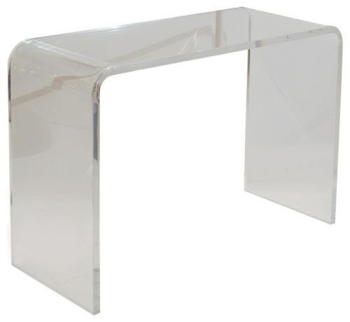 konsolentisch glänzend aus glas