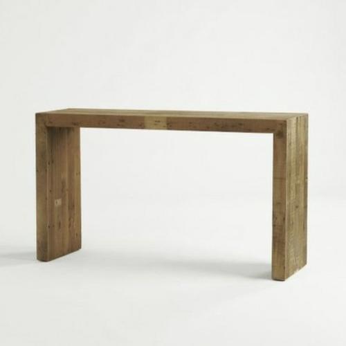 konsolentisch minimalistisch aus grobem holz