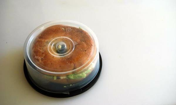 kreative bastelideen cd behälter für das brötchen