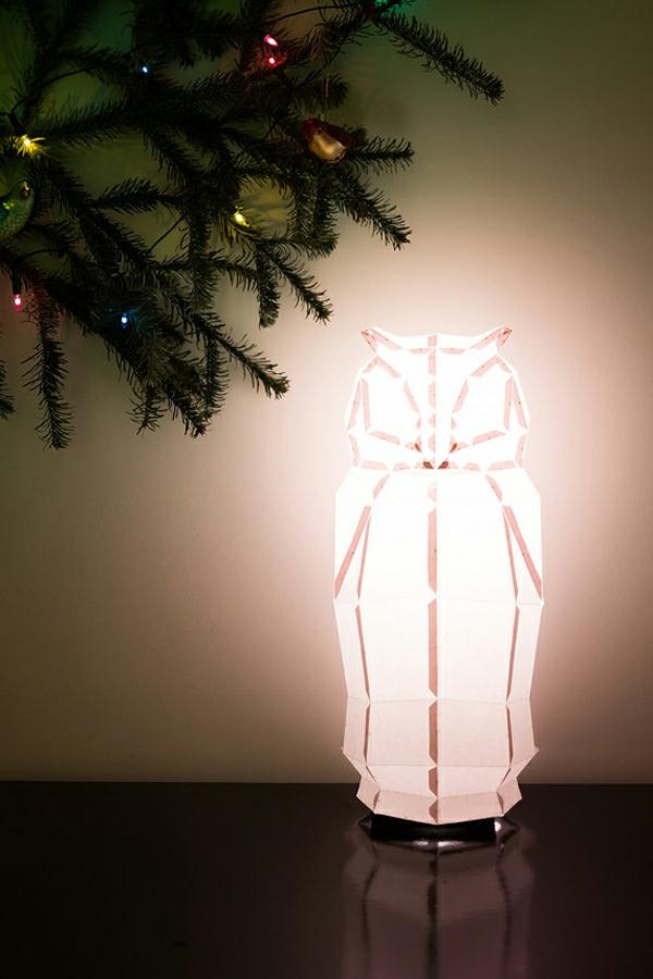 lampenschirm design eule lampe am tannenbaum