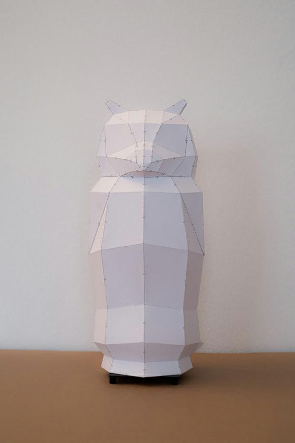 lampenschirm design weiße eule