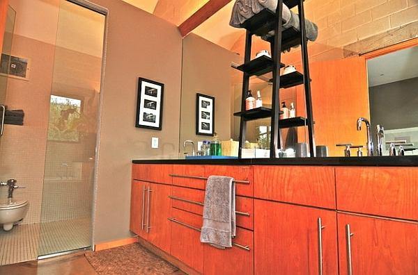 leiterregal wandregale DIY küche badezimmer mosaik fliesen trennwand glas