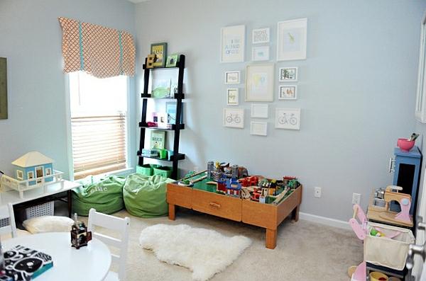 leiterregal wandregale DIY schlafzimmer kinderzimmer spiele fröhlich