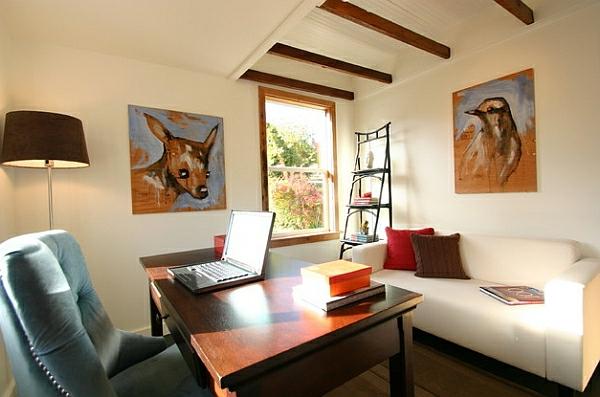 wandregale DIY wohnzimmer sofa sessel schreibtisch gemälde