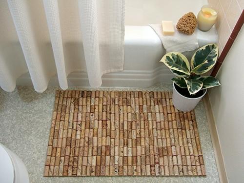 praktische DIY Wohnideen für Ihr Zuhause badezimmer matte korken