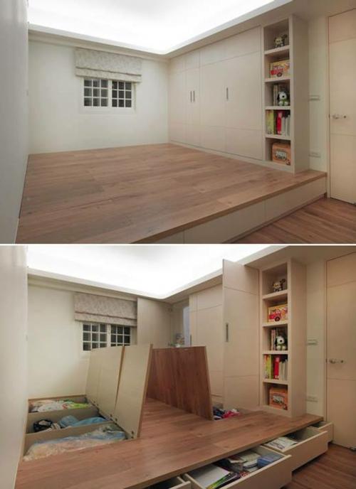 DIY Wohnideen für Ihr Zuhause montage boden aufbewahrung