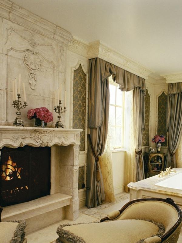 romantisches bad im viktorianischen stil