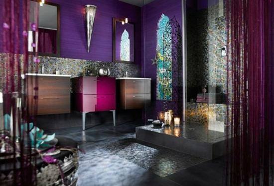 romantisches badezimmer im orientalischen stil