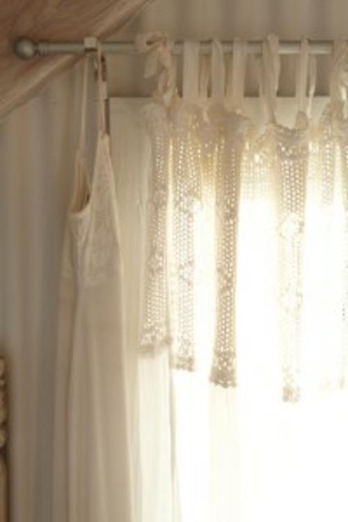 Rustikales badezimmer romantisch gestalten - Badezimmer gardinen ...