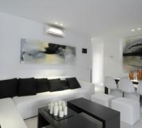 Einrichtungsideen in Schwarz-Weiß für das moderne Interieur