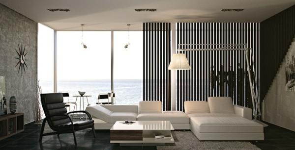 schwarz weiß elegante modulen couch