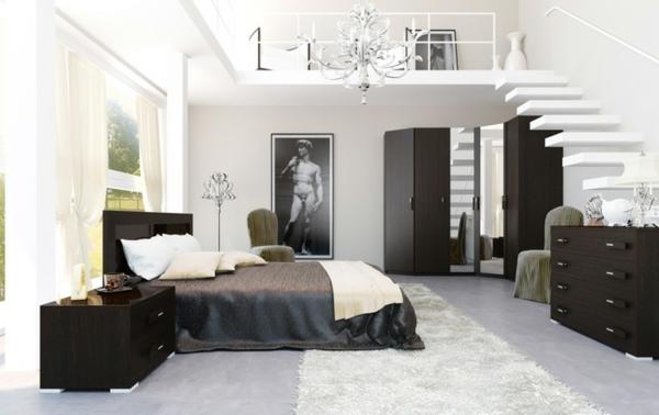 schwarz-weiß schwebende treppe
