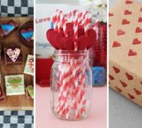 Selbstgemachte Geschenke zum Valentinstag