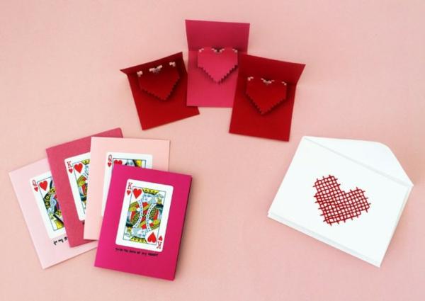 selbstgemachte geschenke zum valentinstagskarten