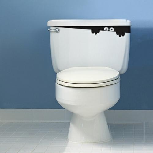 sticker toilette interessant aufkleber design bad