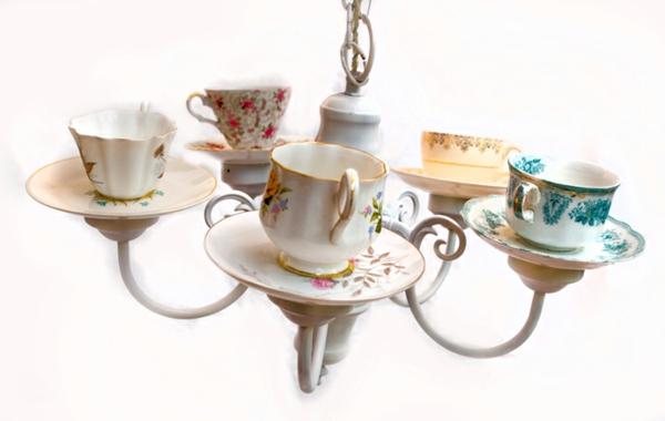 teetassen ausgefallener kronleuchter