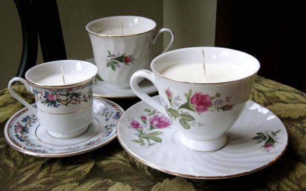 teetassen teelichter