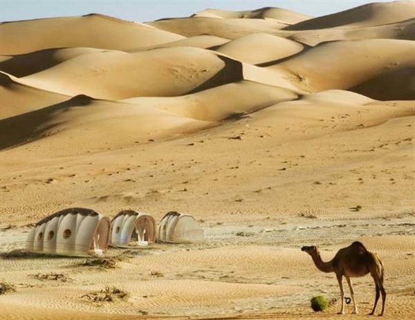 transportable häuser in der wüste