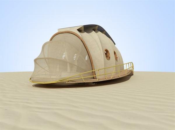 transportable häuser mit sandnetz