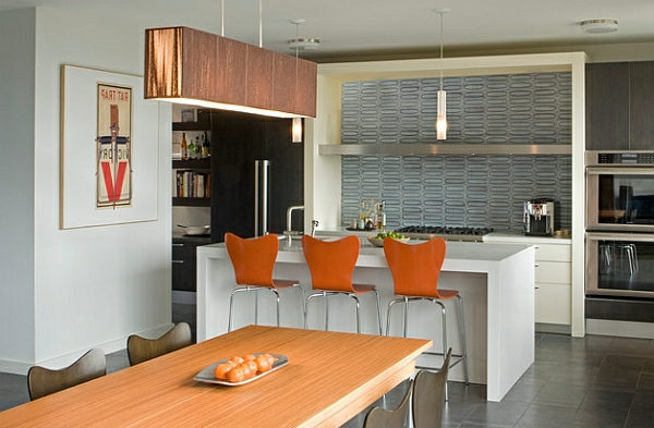 trendy Barhocker und Küchenhocker series 7 orange