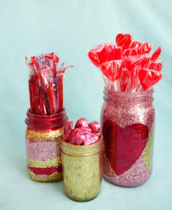 valentinstagsgeschenke glitzer gläser