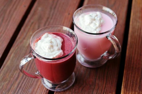 valentinsgeschenke rote heiße schokolade