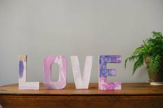 valentinstagideen love mit fotocollage