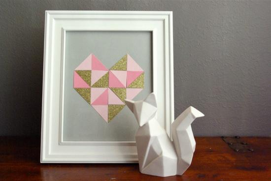 Origami Deko valentinstag ideen für ihre romantische dekoration zum nachmachen