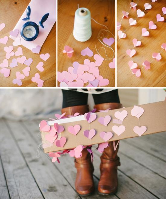 valentinstagideen rosa herzen