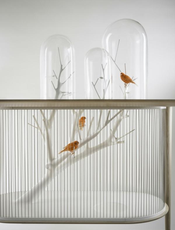 vogelkäfig als möbelstück archibird