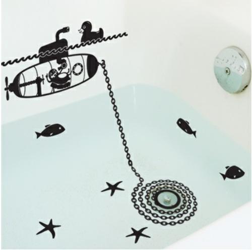 wandsticker wandtattoo wanddeko originell badewanne