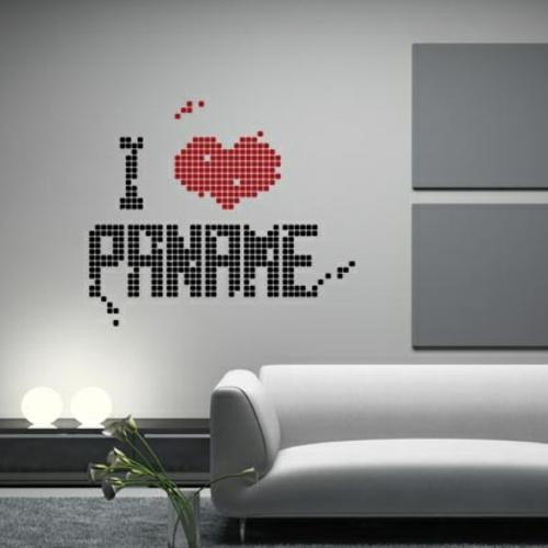 wandsticker wandtattoo wanddeko paname love