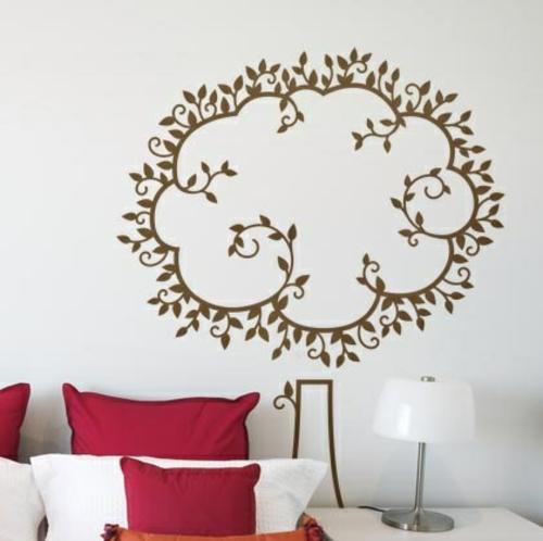 Wanddekoration mit Wandtattoo  70 schöne Ideen und Designs