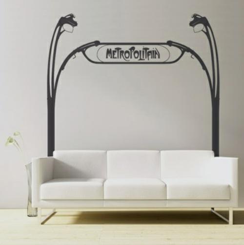 wandsticker wandtattoo wanddeko weiß sofa weich auflage