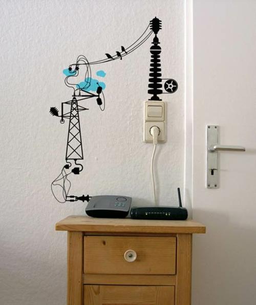 wandtattoos muster elektrische anlage