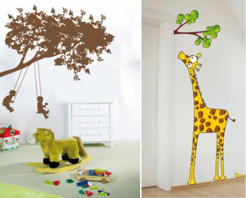 wandtattoo muster giraffe